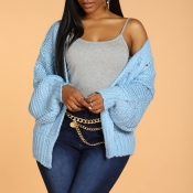 Lovely Leisure Loose Sky Blue Cardigan