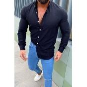 Lovely Casual Basic Black Shirt