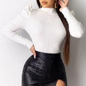 Lovely Work Turtleneck White Blouse