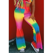 Lovely Color-lump Patchwork Multicolor Pants
