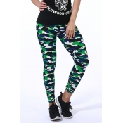 Lovely Casual Print Camo Leggings