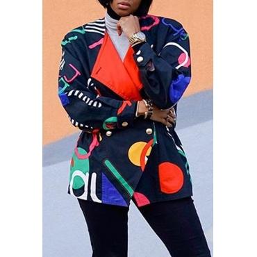 Lovely Stylish Print Multicolor Multicolor Blazer