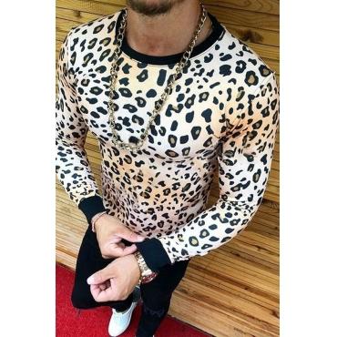 Lovely Leisure O Neck Leopard White T-shirt