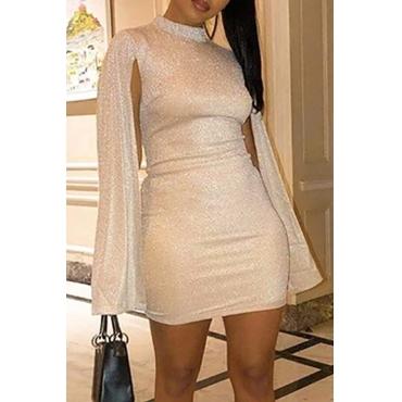 Lovely Party Cloak Design Apricot Mini Dress