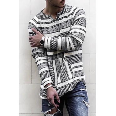 Lovely Casual Striped Black And White T-Shirt