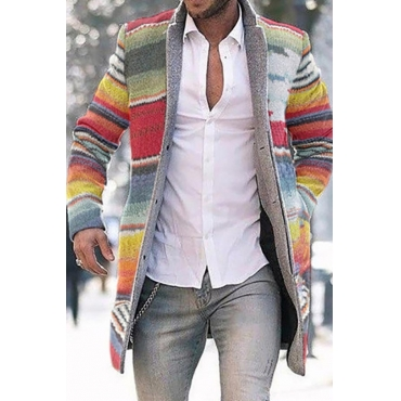 Lovely Bohemian Patchwork Multicolor Trench Coat