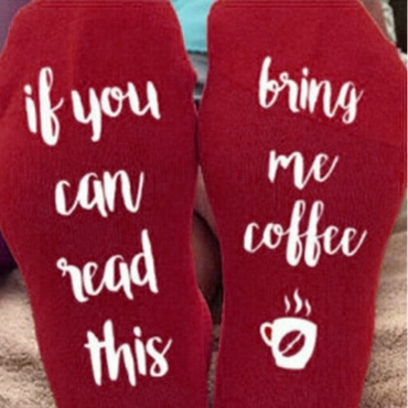 Lovely Cotton Fashion Letter Regular Socks