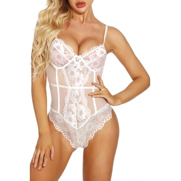Lovely Sexy Lace White Teddies