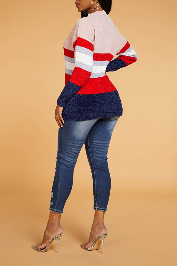 Lovely Leisure Striped Multicolor Sweater
