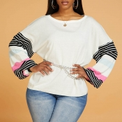 Lovely Casual Striped Apricot Sweater