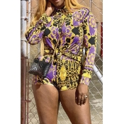 Lovely Leisure Print Multicolor Two-piece Shorts S