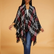 Lovely Casual Plaid Black And White Cardigan