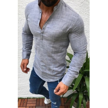 Lovely Casual Basic Grey Shirt