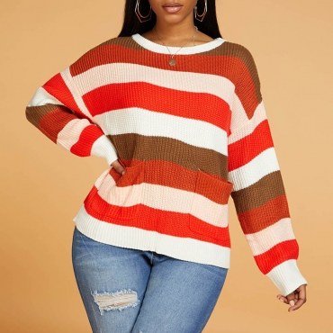 Lovely Leisure Striped Mulicolor Sweater