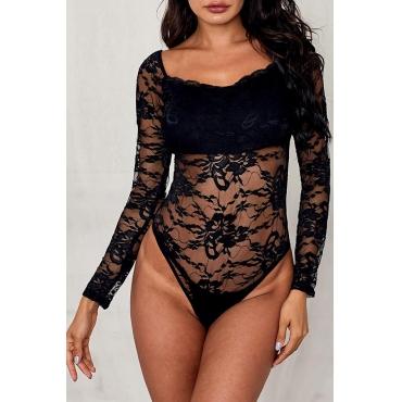 Lovely Sexy See-through Black Teddies