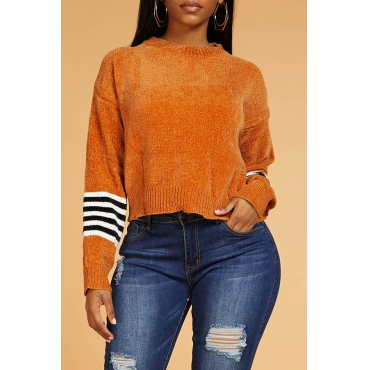 Lovely Casual Striped Croci Sweater