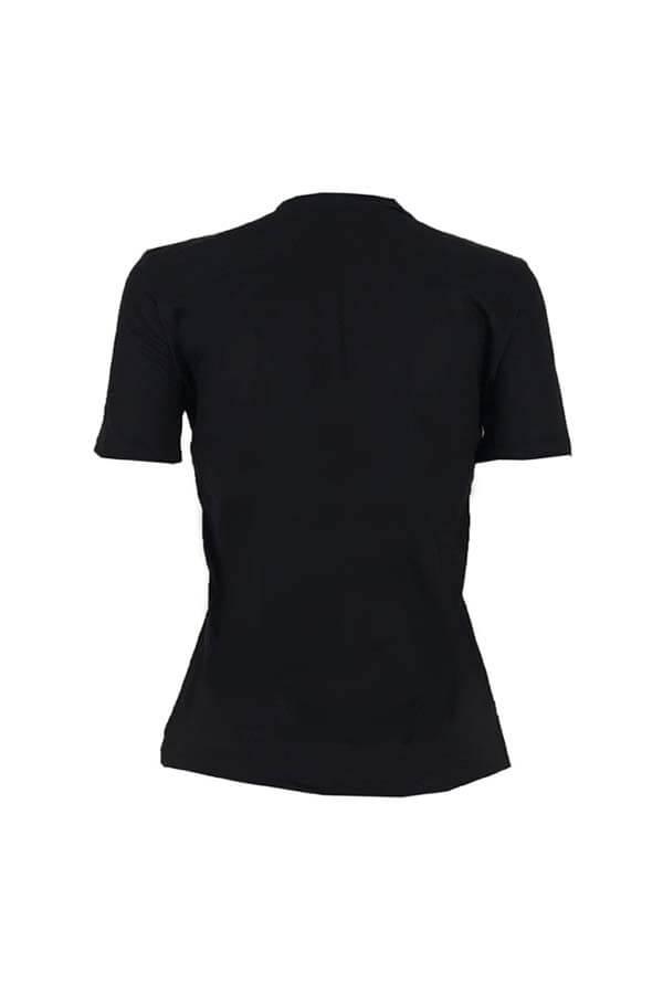 Lovely Chic Print Black T-shirt