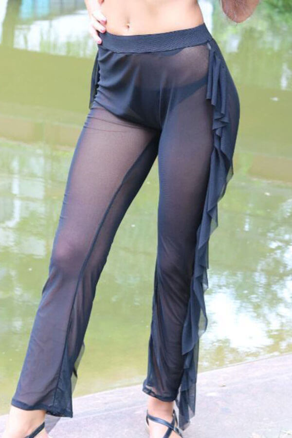 Lovely Chic See-through Black Pants