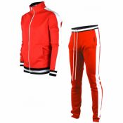 Lovely Sportswear Patchwork Red Two-piece Pants Se