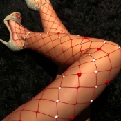 Lovely Sexy Hollow-out Red Bodystocking