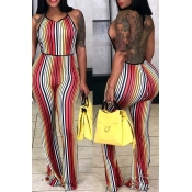 Lovely Casual Striped Multicolor One-piece Jumpsui