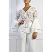 Lovely Work Patchwork White Bodysuit