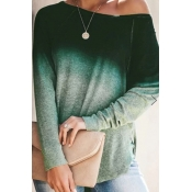 Lovely Casual Print Green T-shirt