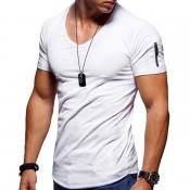 Lovely Leisure Short Sleeve Basic White T-shirt