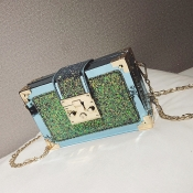 Lovely Chic Patchwork Blue Crossbody Bag