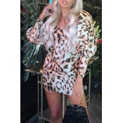 Lovely Chic Leopard Print Mini Dress