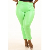 Lovely Sexy Skinny Green Plus Size Pants