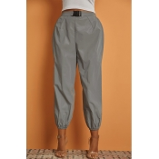 Lovely Sportswear Loose Silver Pants