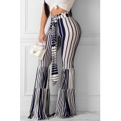 Lovely Chic Striped Blue Pants