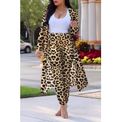 Lovely Stylish High Waist  Leopard Print Two-piece