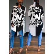 Lovely Casual Print Black Blouse