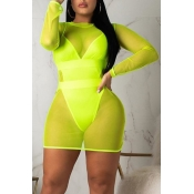 Lovely V Neck Green  Plus Size One-piece Swimsuit(