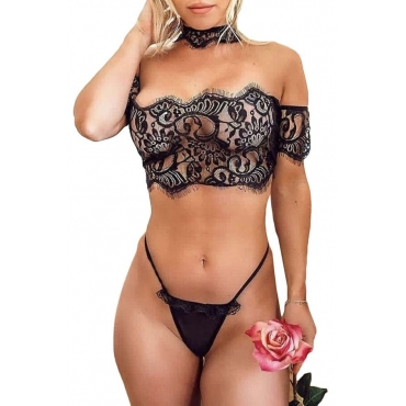 Lovely Sexy Lace Black Bra Sets