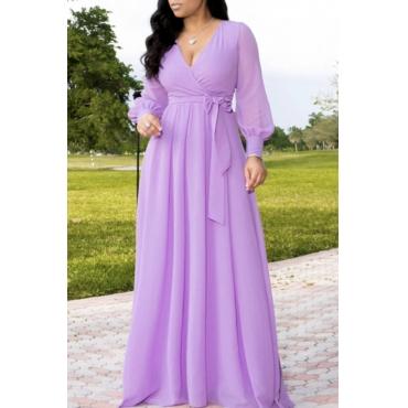 Lovely Sweet Loose Purple Maxi Dress
