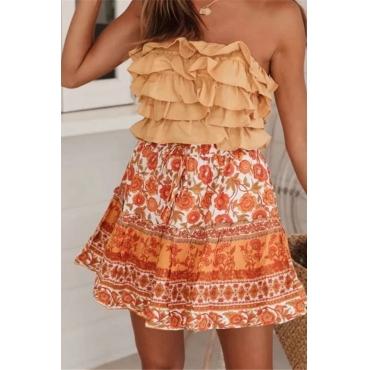 Lovely Chic Print Multicolor Skirt