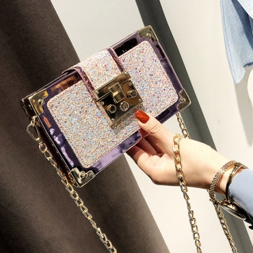 Lovely Chic Patchwork Pink Crossbody Bag