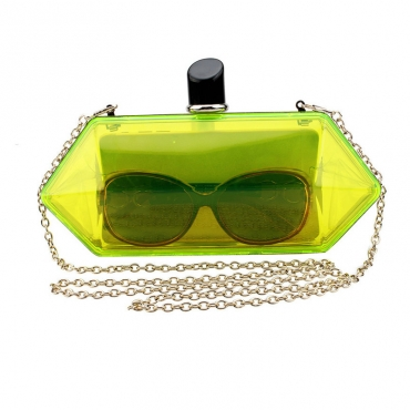 Lovely Casual See-through Yellow Crossbody Bag