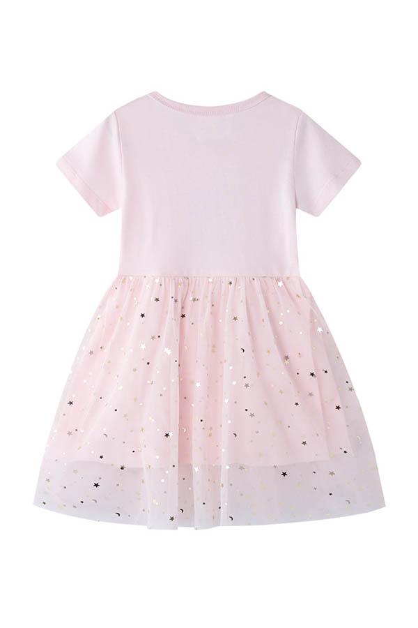 Lovely Chic Patchwork Light Pink Girl  Mini Dress