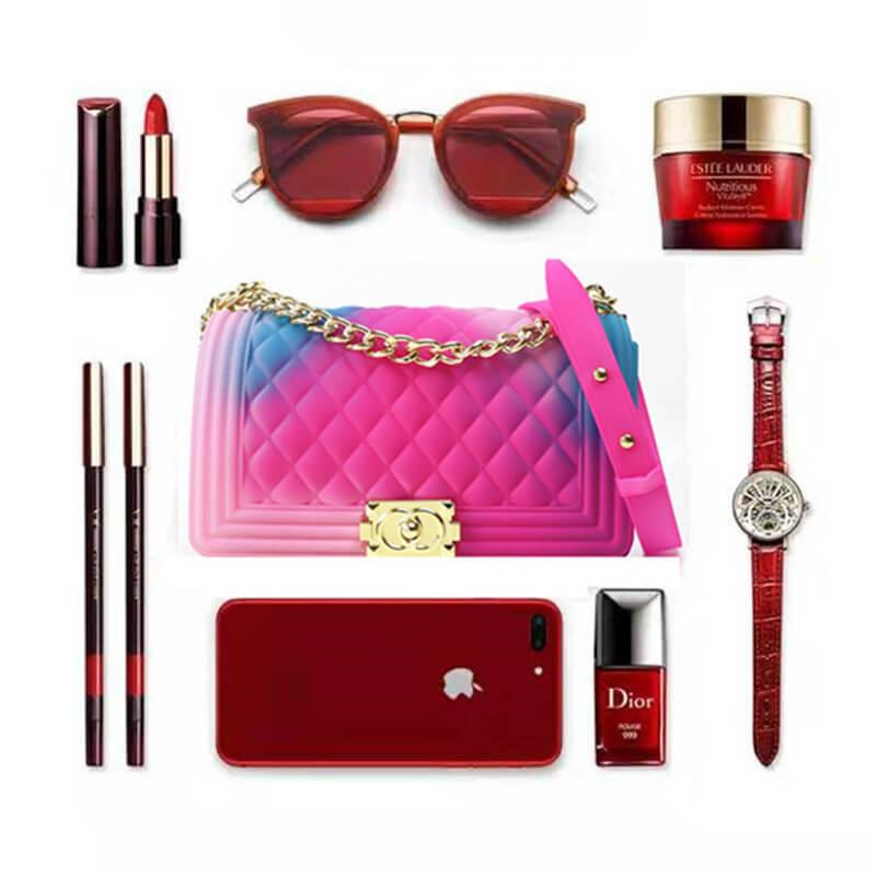 Lovely Trendy Plaid Rose Red Messenger Bag