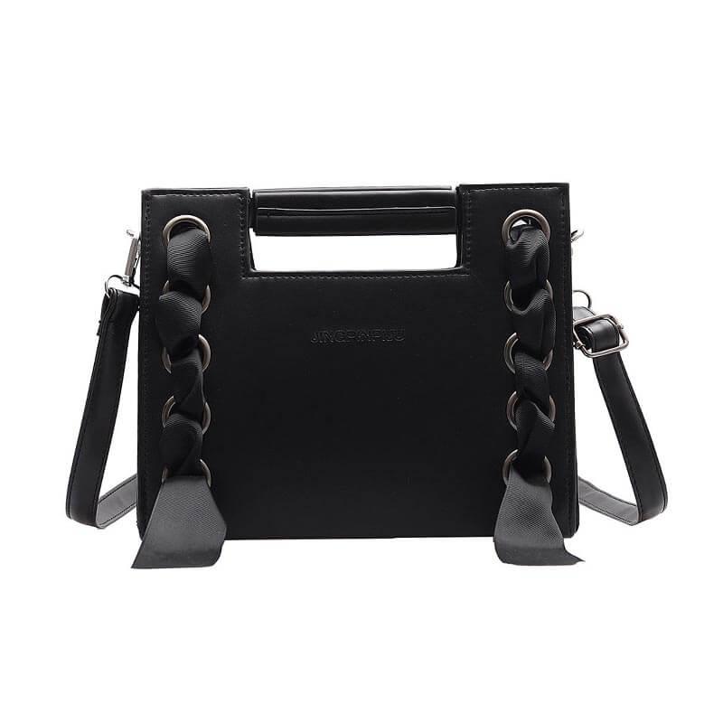 Lovely Chic Black Crossbody Bag