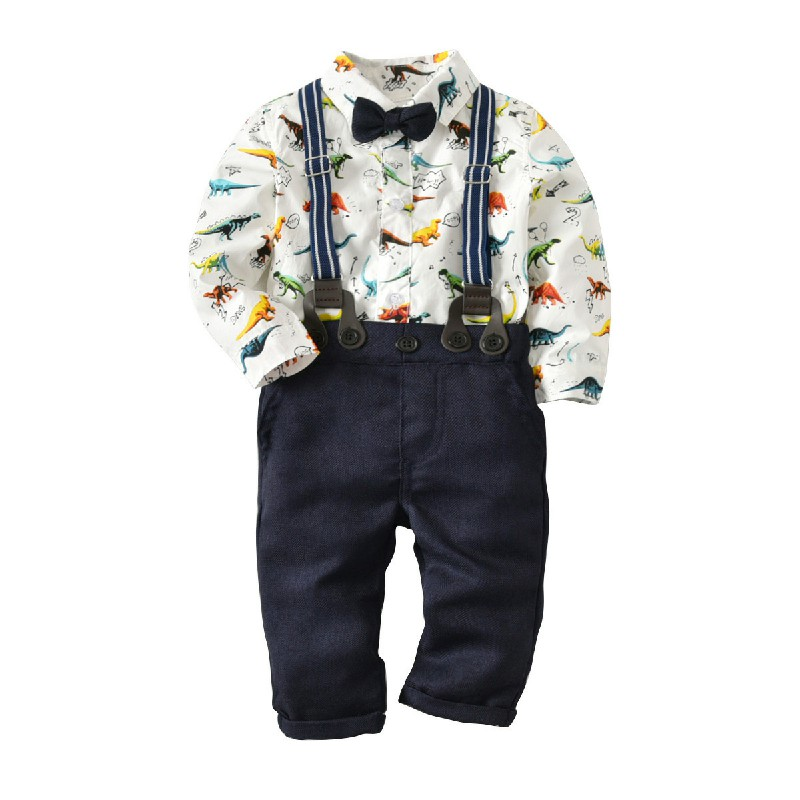 Boys Two Piece Lovely Casual Print White Boy Two-piece Pants Set фото