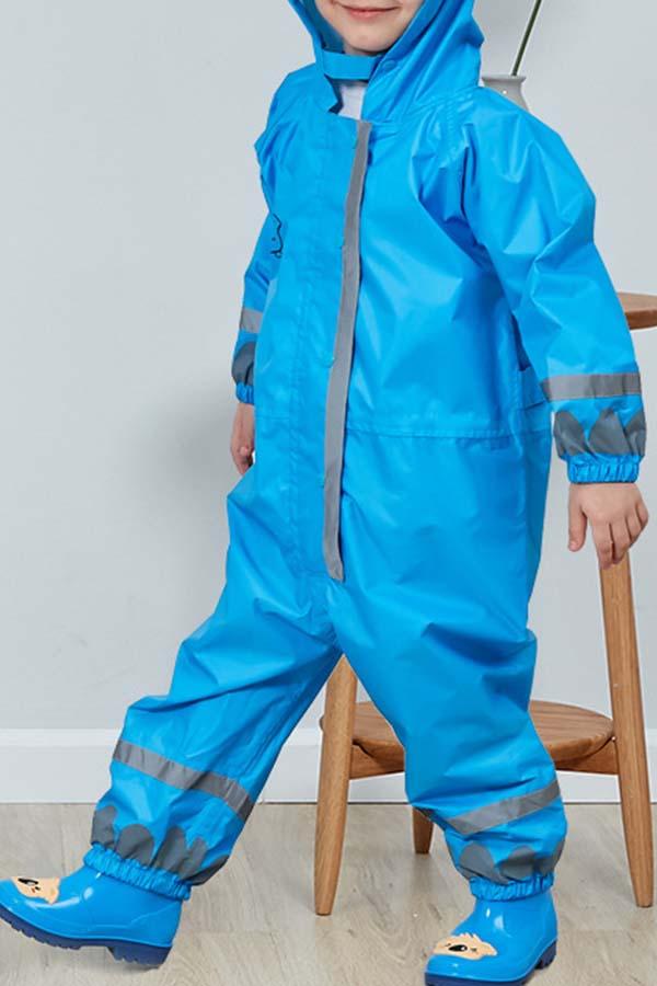 Lovely Dustproof Clothing Environmental Protection Lightweight Blue Raincoat EVA Thickened