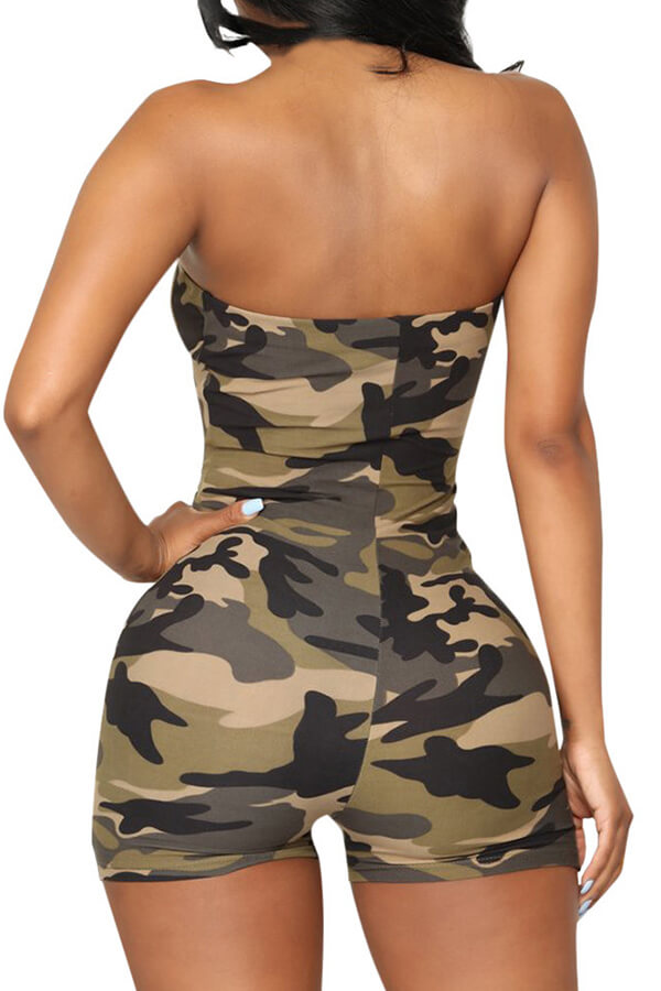 Lovely Casual Camo Print One-piece Romper