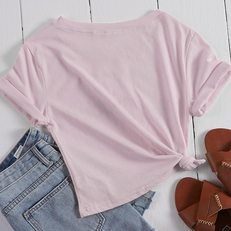 Lovely Leisure Letter Print Pink T-shirt