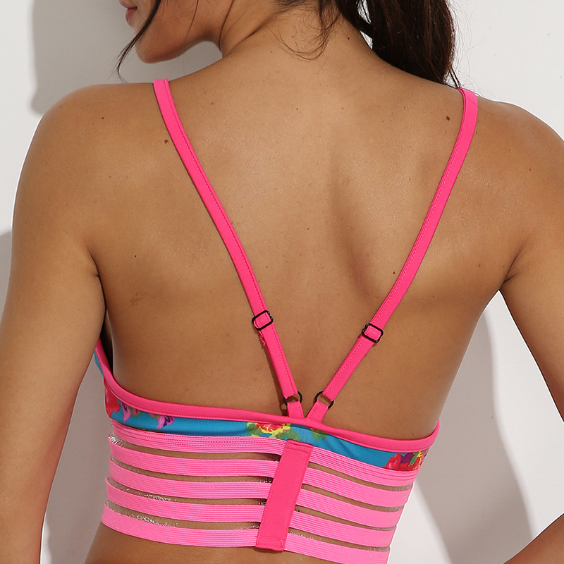 Lovely Sportswear Patchwork Pink Camisole