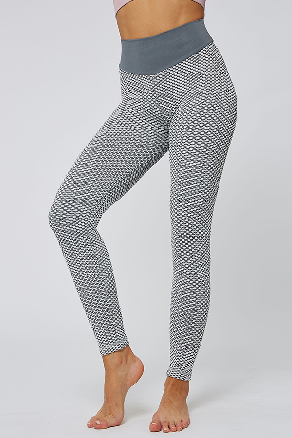 Lovely Sportswear Print Grey Leggings